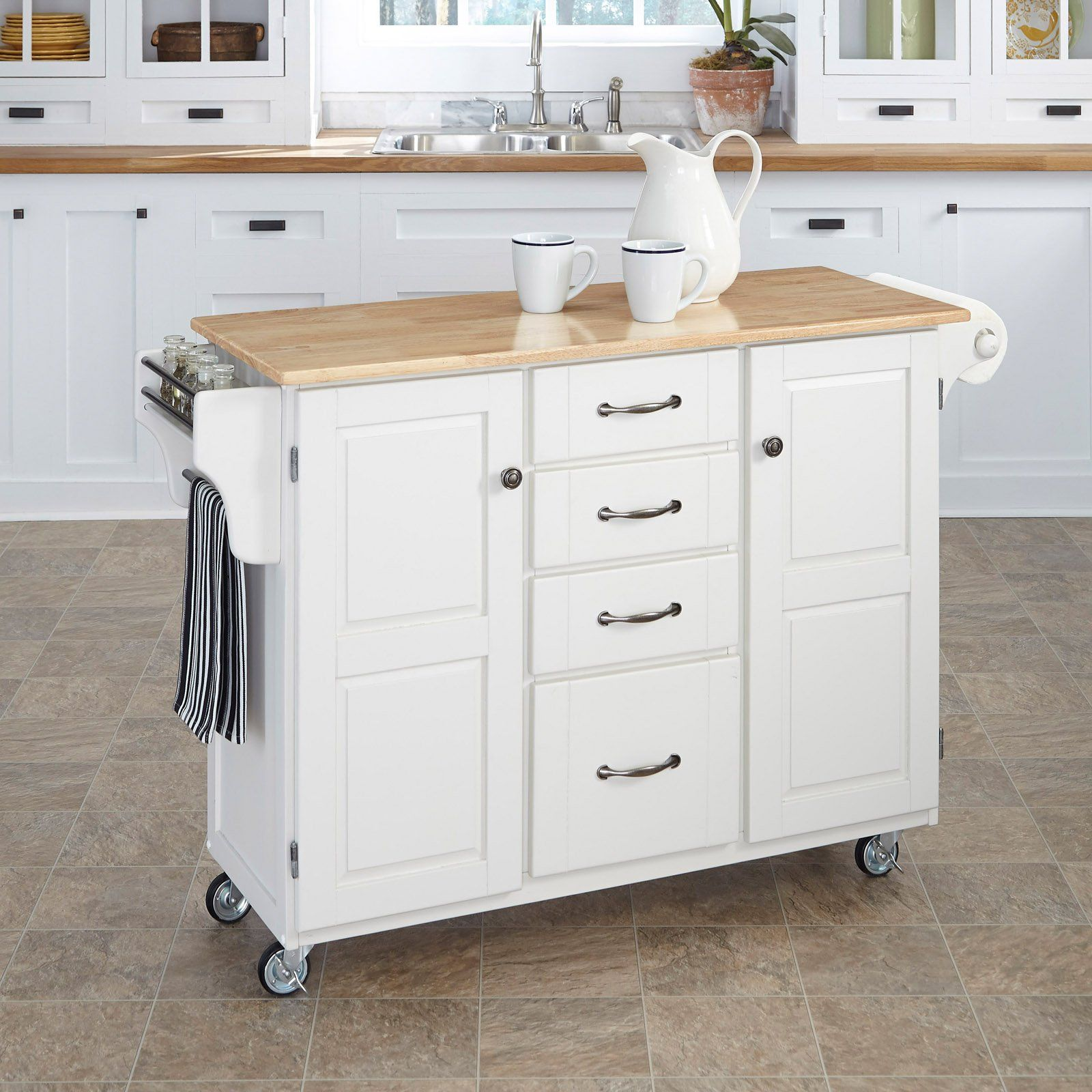 Home Styles Design Your Own Kitchen Island White Kitchen Cart Kitchen Tops Granite Kitchen Cart