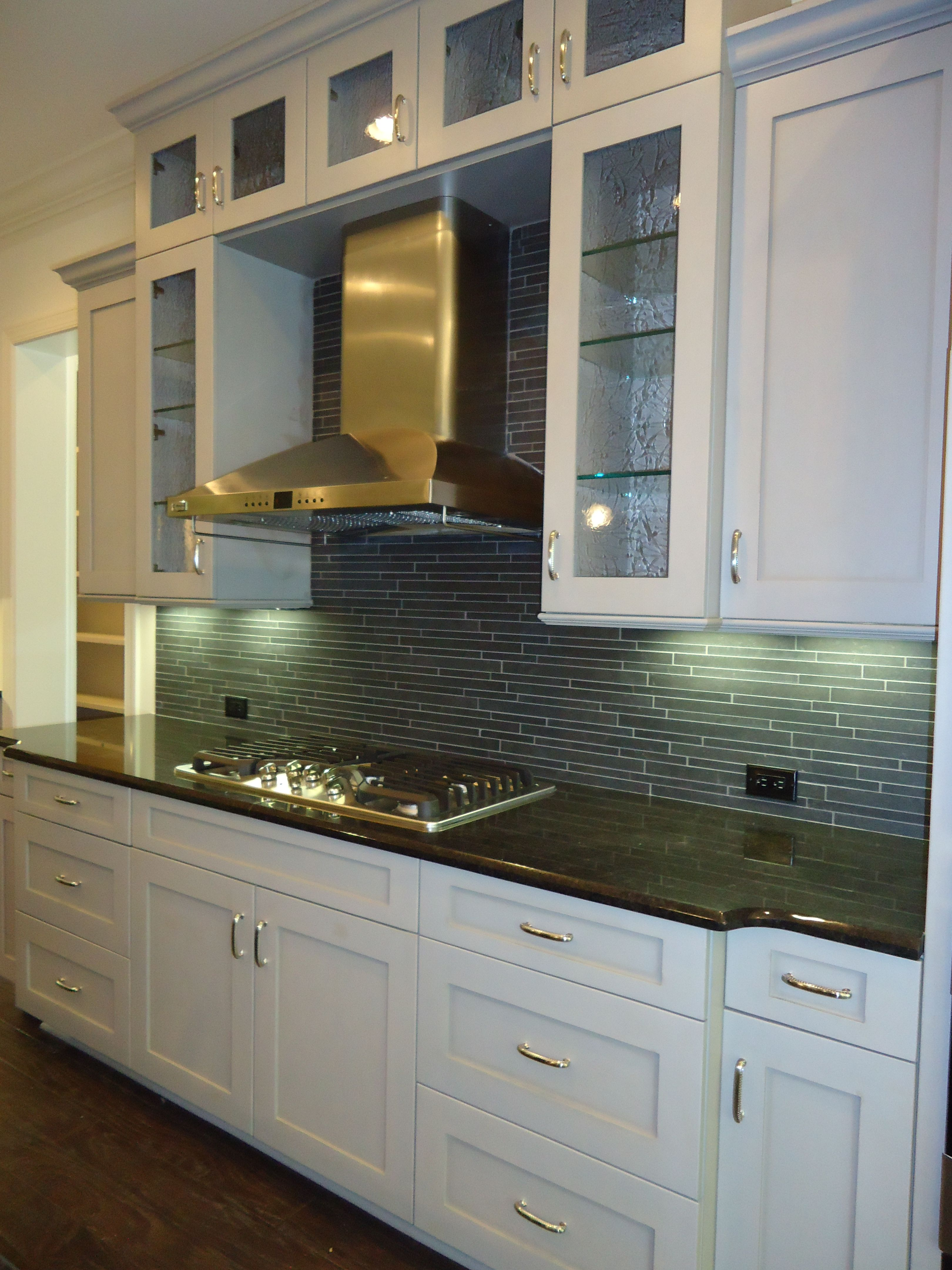ARH Asheville Plan. London Fog stained cabinets with black ...