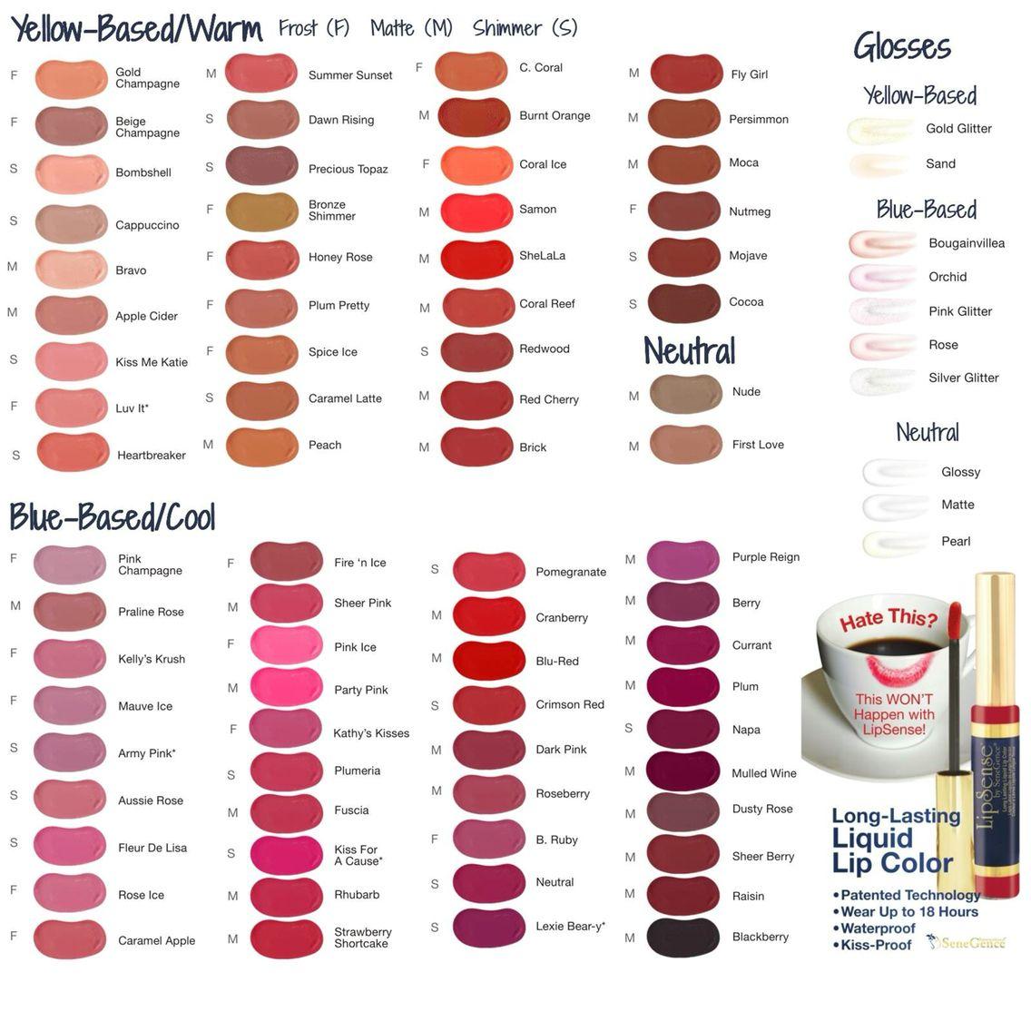 LipSense Colors Shop and get a color match! @laliounge on Facebook ...