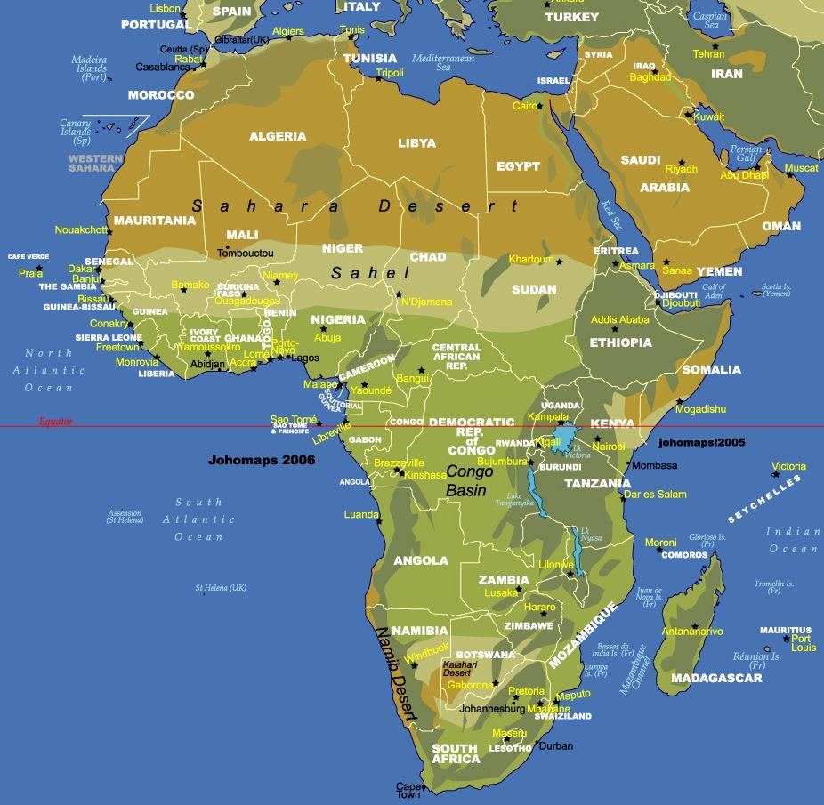 Sahara Desert On Map Of Africa | Map Of Africa