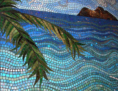 Mokuluas Detail 3 by Dyanne Williams Mosaics, via Flickr