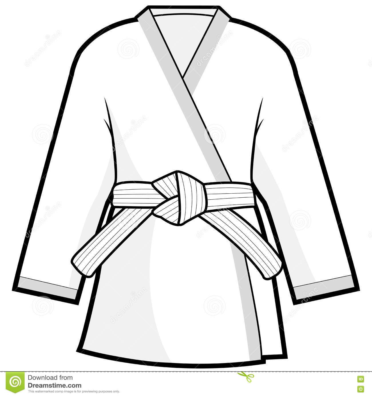 Image Result For Judo Uniform Clipart