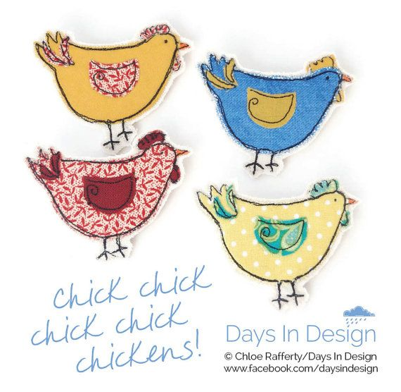 Easter+Chicken+brooch.+Fabric+brooch+hand+made+by+by+DaysInDesign