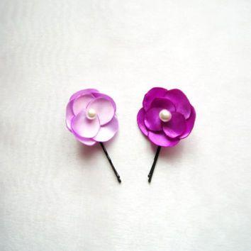 النسيج اليدوي زهرة دبوس عرس زهرة الشعر دبوس ودبابيس الزهور زهرة بوبي دبوس دبوس العرسان زهرة هدية لها اكسسوارات Hair Accessories Bobby Pins Stud Earrings