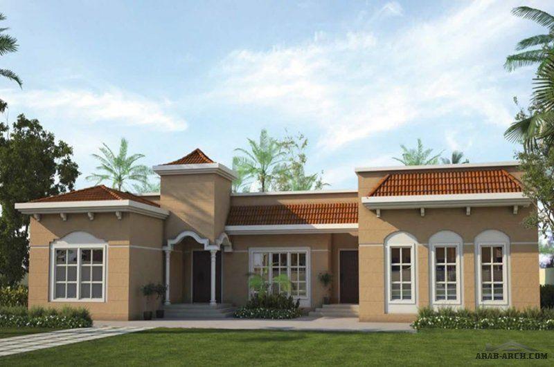 مخطط فيلا خليجى طراز اندلسي طابق واحد 343 متر مربع Architectural House Plans Courtyard Design House Styles