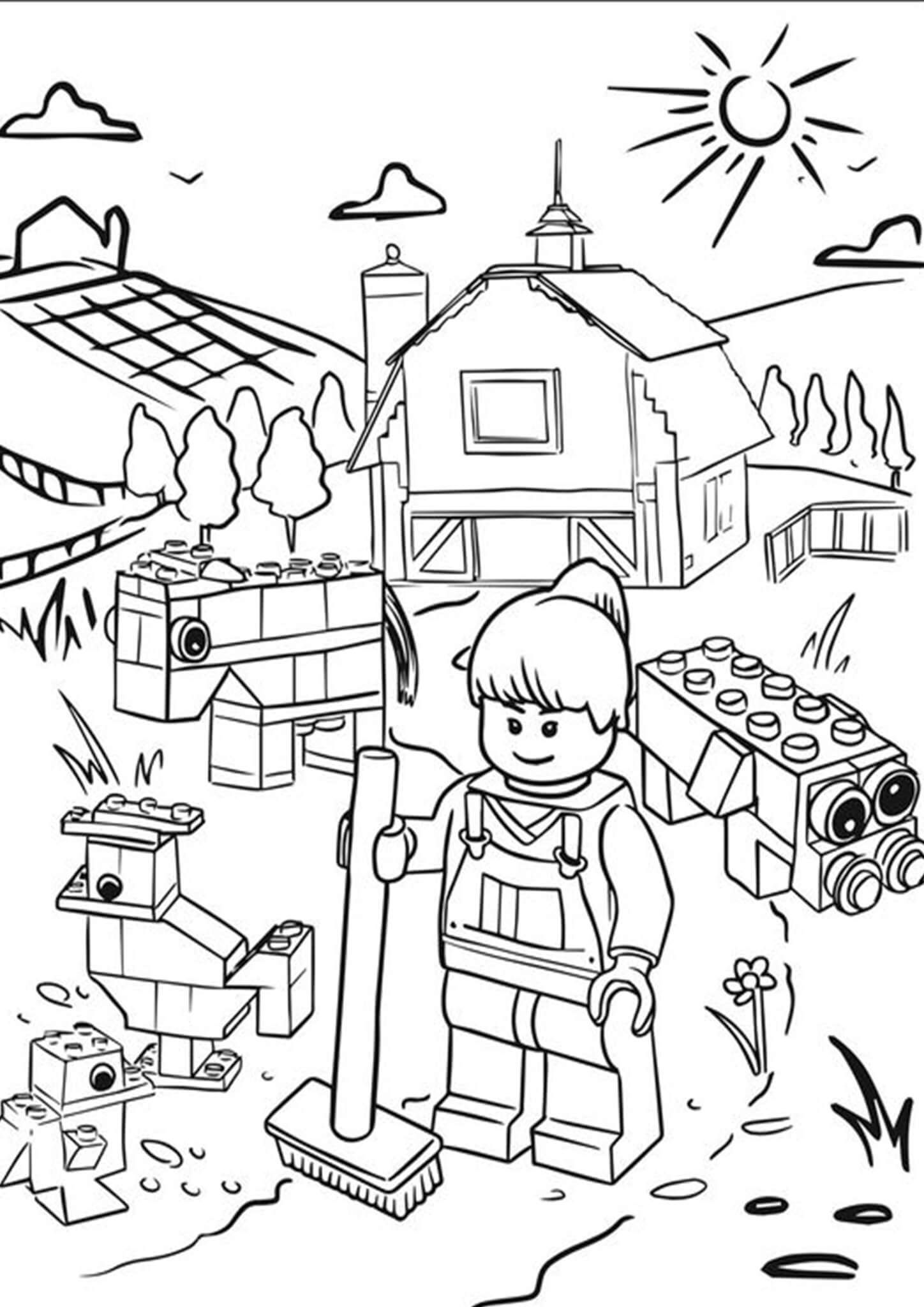 Free Easy To Print Lego Coloring Pages Lego Coloring Lego Coloring Pages Unicorn Coloring Pages