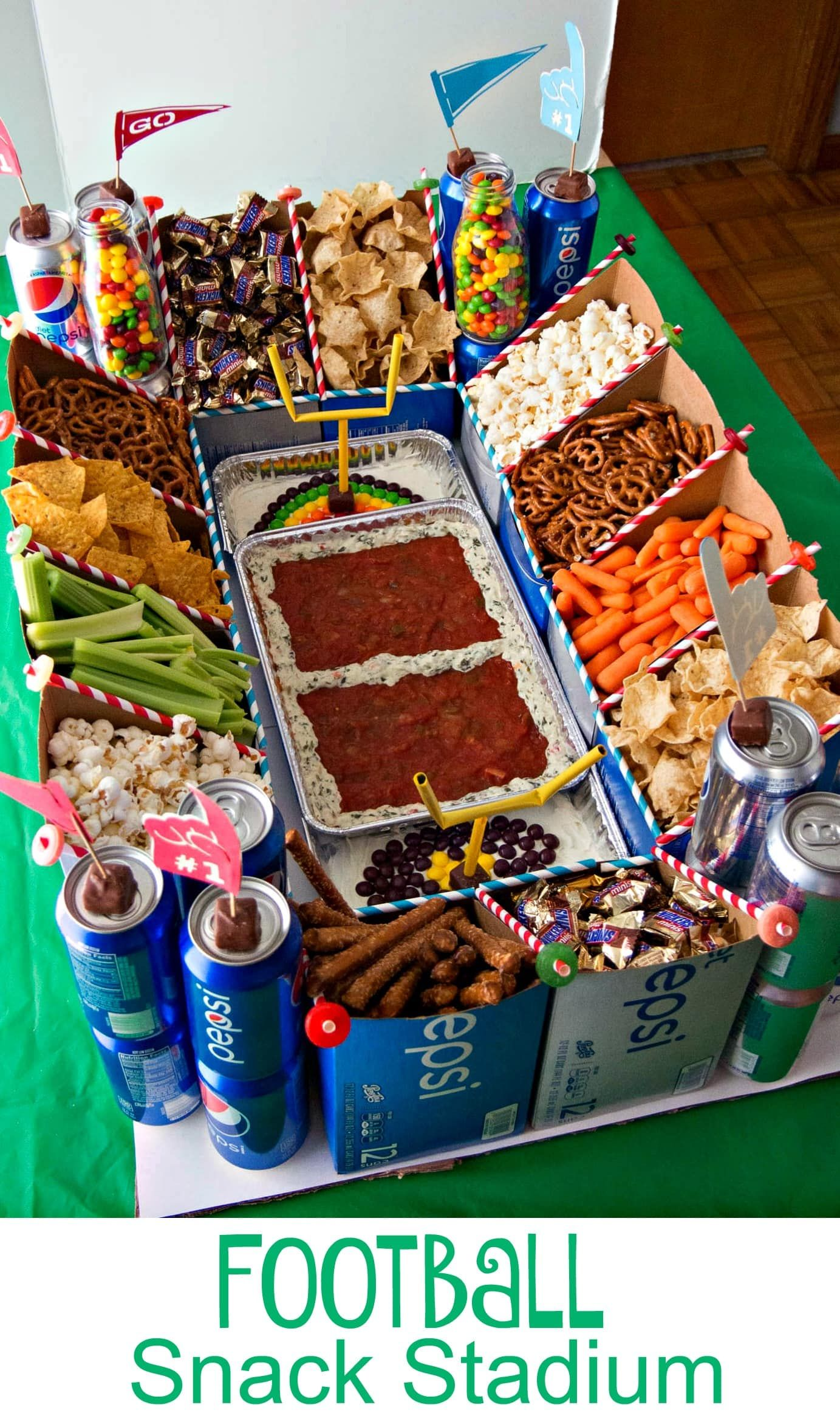 Build the Ultimate Football Snack Stadium