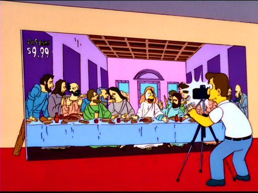 """Parody of the """"Last Supper"""""""