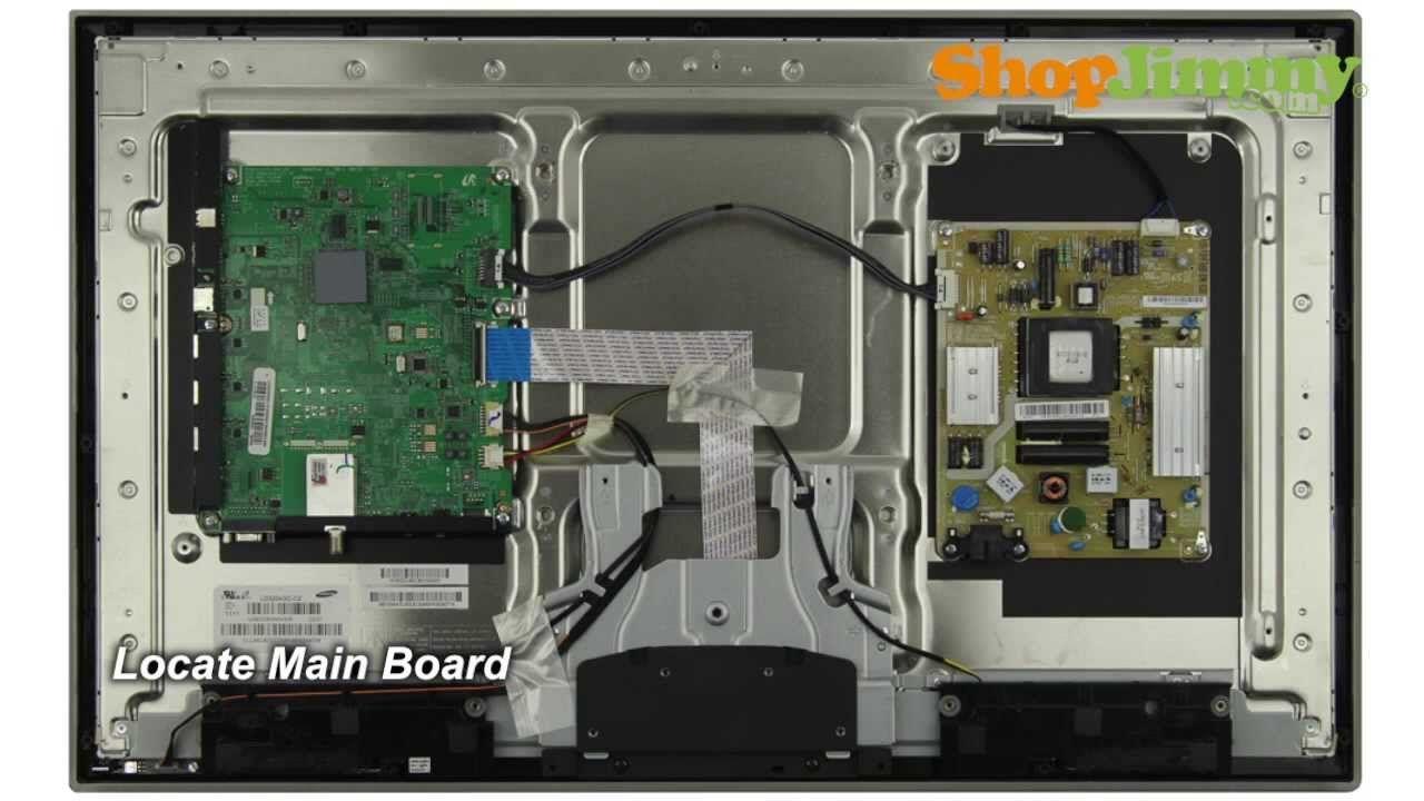 Samsung TV Repair Tutorial - Replacing Main Board in Samsung UN32D4000ND.