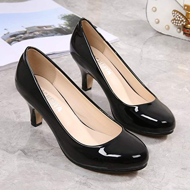 41a51eb97 OCHENTA Women's Round Toe Kitten Heel Dress Work Party Pumps: #Shoes #Women