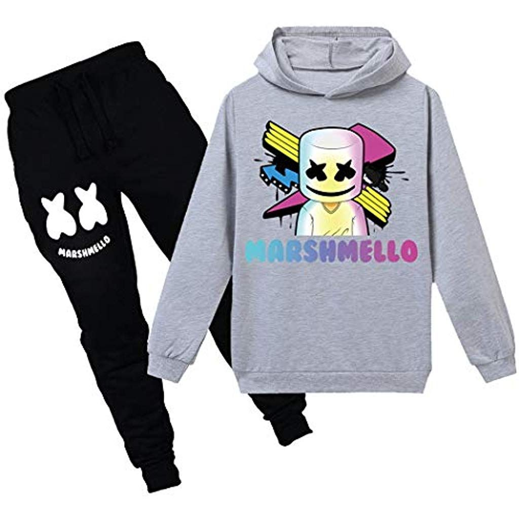 Youth Marshmello Dj Hoodie Sets Girls Boys Cool Sweatshirt Pants Clothing Sets Clothing Shoes Jewelry Nove Hoodie Set Sweatshirts Sweatshirt Pants [ 1024 x 1024 Pixel ]