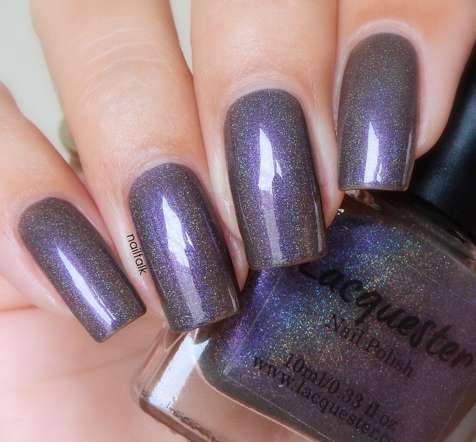Lacquester Taupism BN swatched on nail clip ring $16 (hard to get ...