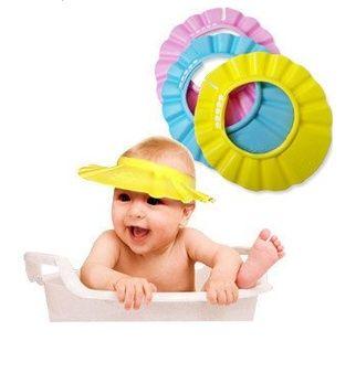 3PCS Baby Shower Cap Bathing Cap Adjustable Shower Hat Kids Infants Soft Protection Funny Safety Visor Cap for Toddler Children Baby Kids Yellow+Blue+Pink