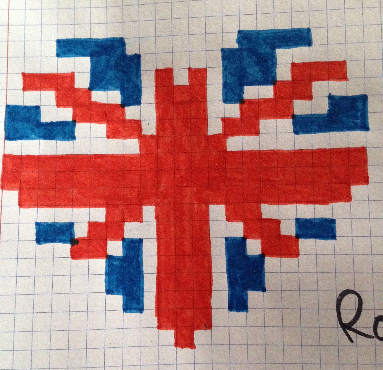 Coeur angleterre mes pixel art pixel art dessin pixel et pixel art licorne - Dessiner le drapeau anglais ...