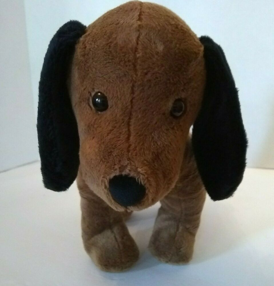 Manhattan Toy Company Pooch Party Sniffy Hound Dog Brown Plush