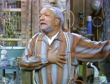 Image result for sanford and sons heart attack meme