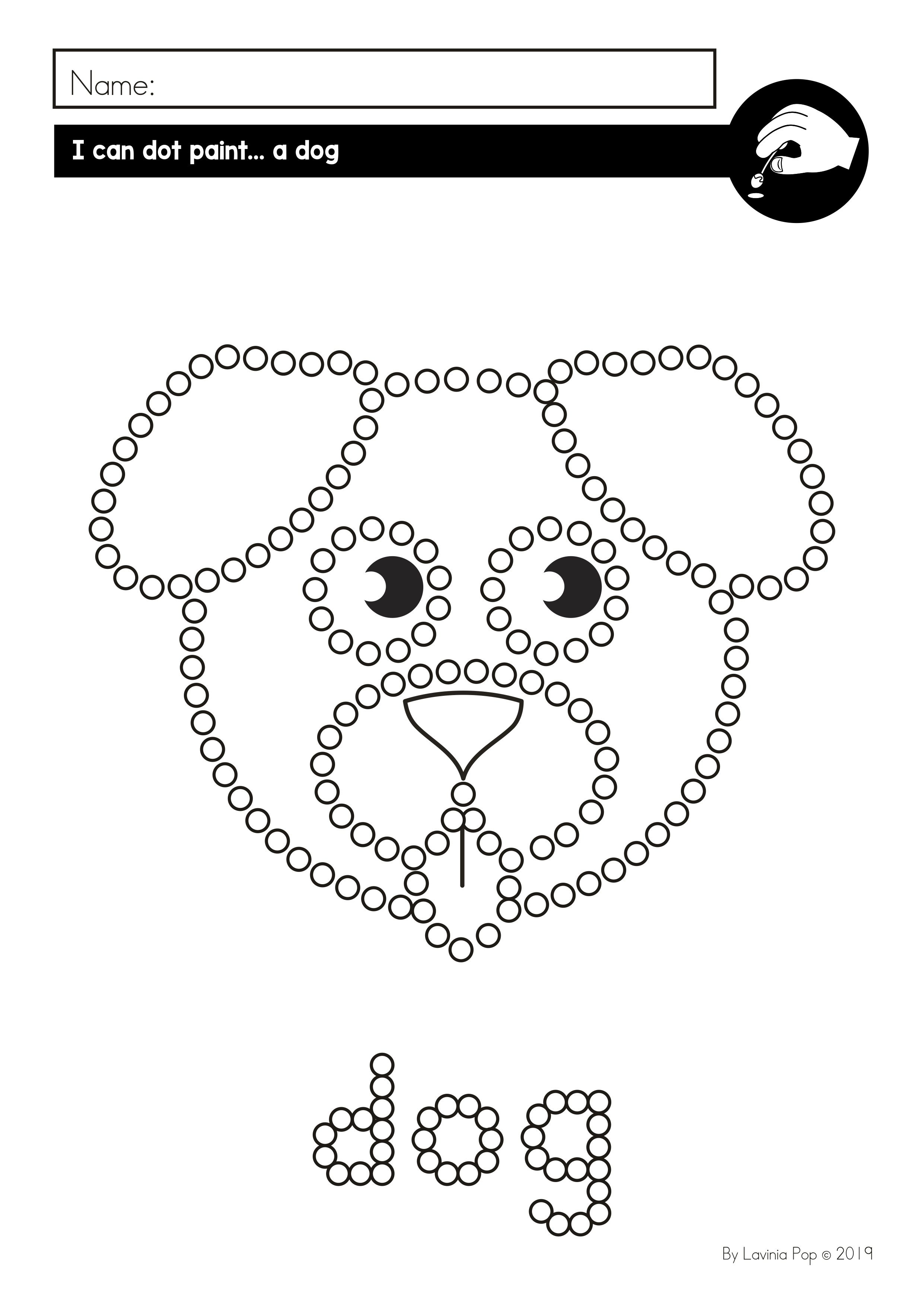 Fine Motor Printable Activities For August