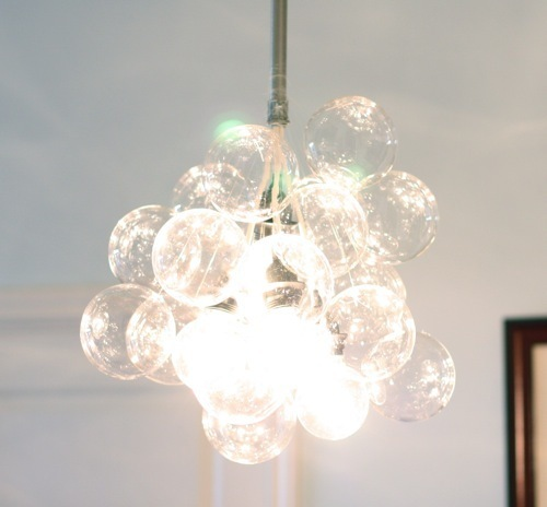 How To: $990 Glass Bubble Chandelier for $70?!