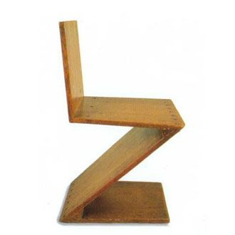Chapter 23   De Stijl   Furniture   Zigzag Chair; 1934, By Gerrit Thomas  Rietveld