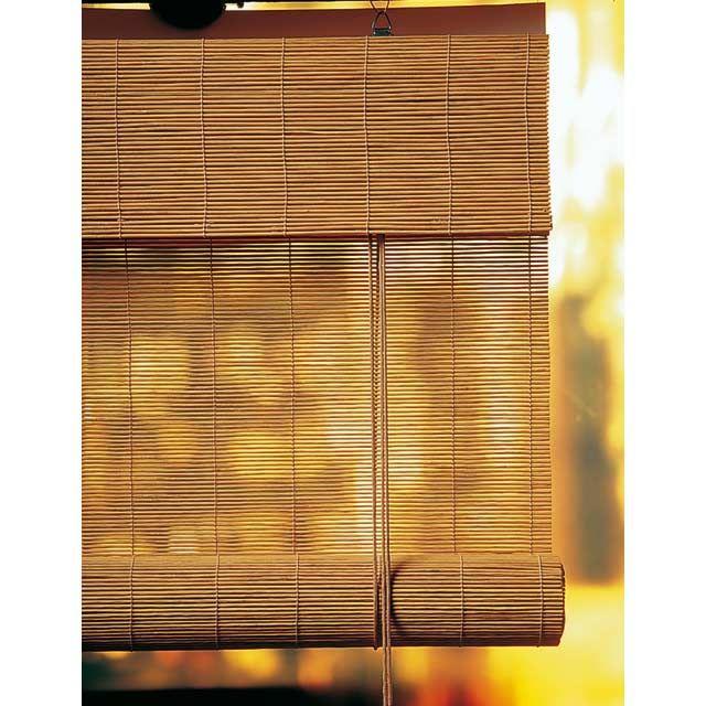 Store enrouleur tamisant Roll\'up bambou caramel 100 x 180 cm ...