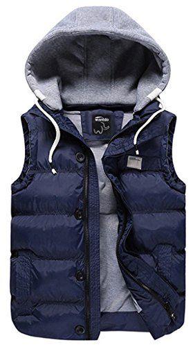 Women Winter Warm Vest Sleeveless Zip Up Coat Hooded Jacket Waistcoat Outwear C