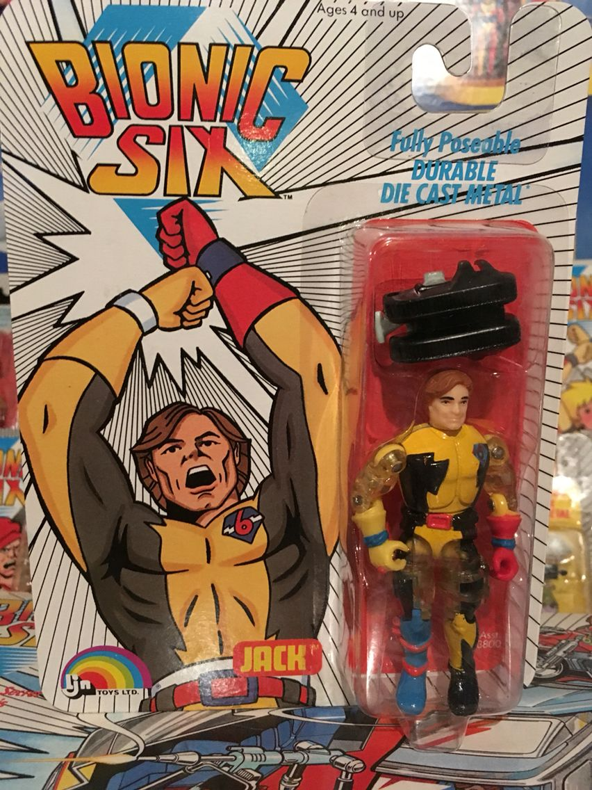 This is Jack Bennett (aka: Bionic-1) from the Bionic Six line of toys and action figures from LJN. These are part of my personal toy collection.