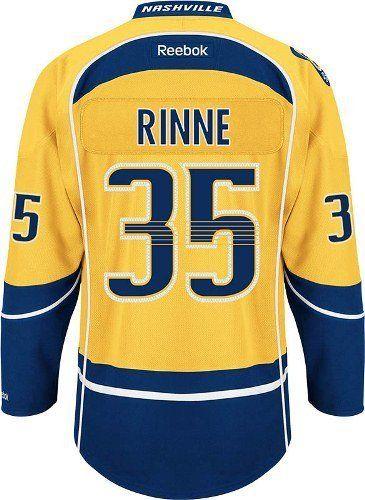 super popular 232f0 d1f8c Pekka Rinne Jersey #35 Nashville Predators Gold Reebok ...