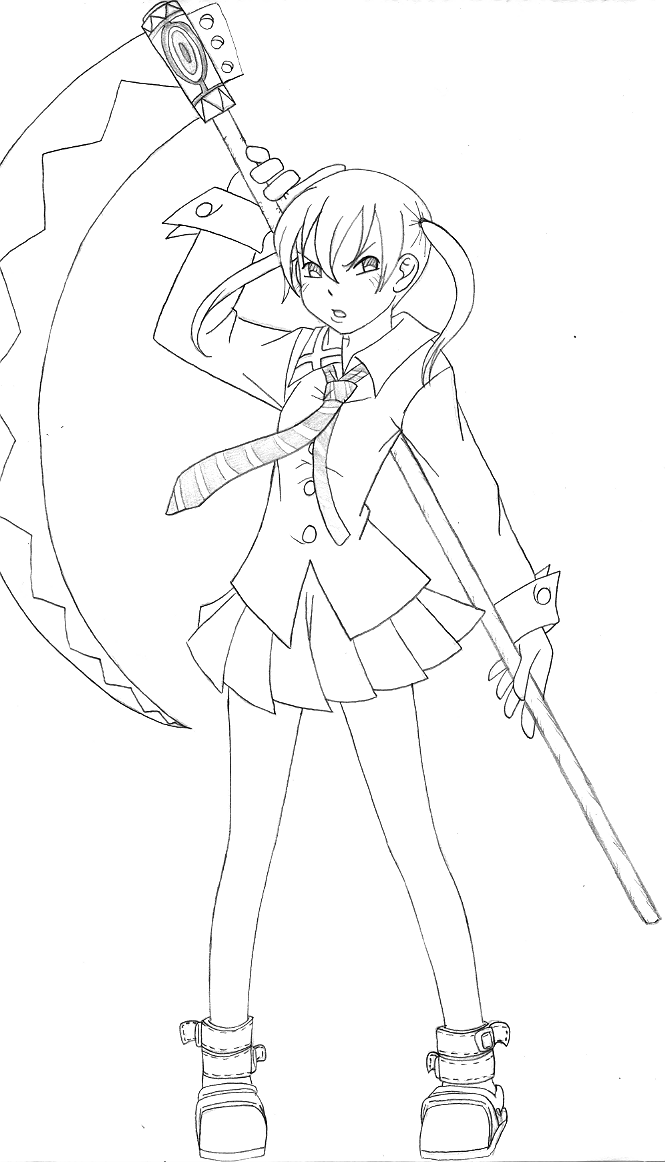 coloring pages of soul eater - photo#17