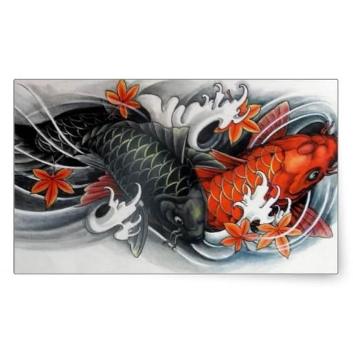 Japanese koi fish paintings japanese red black koi fish for Koi fish japanese art