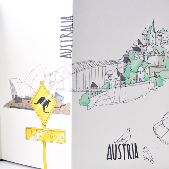Behance :: Around the World by Anna Rastorgueva