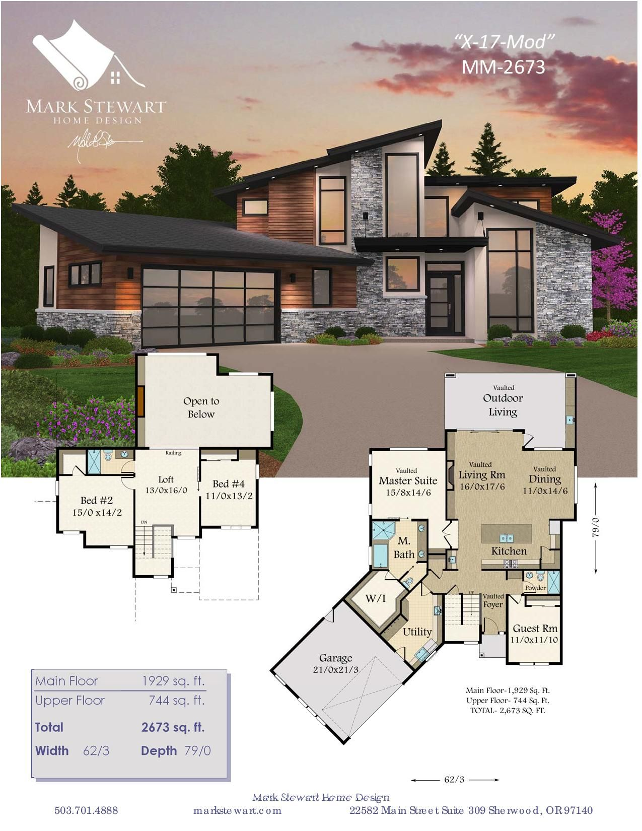 A Modern Empty Nester House Plan With Unique And Award Winning Appeal Modern House Floor Plans Sims 4 House Design Sims House Plans