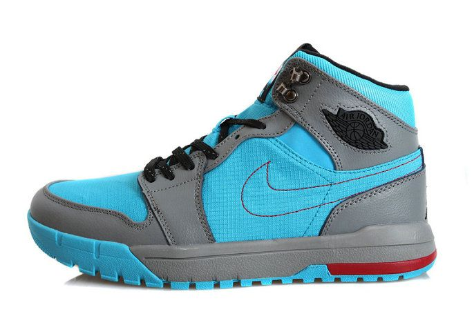 Authentic Cheap Air Jordan 1 Cheap Authentic Cheap Air Jordan 1 Trek Boots  Blue Gray
