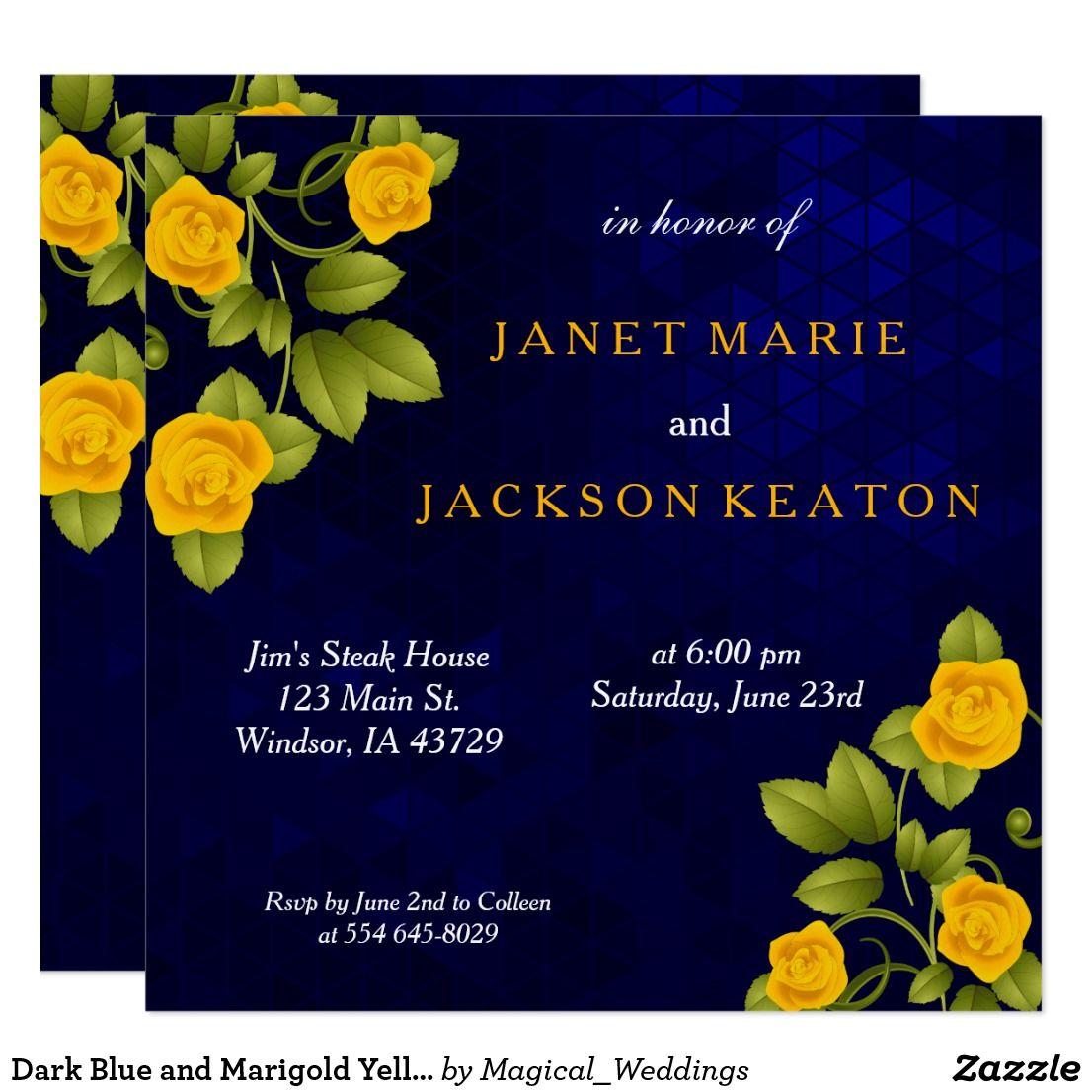 Marigold Yellow Rose Flower