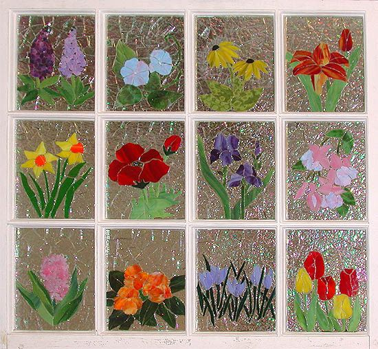 window mosaic of flowers never have a bad weather day mosaic and design pinterest. Black Bedroom Furniture Sets. Home Design Ideas