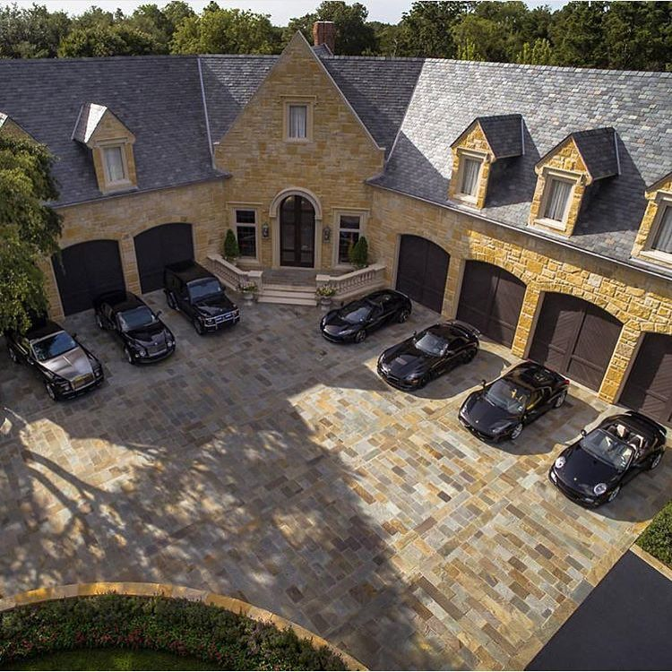 All Black Fleet Courtesy Of Pepperandell Mansions Luxury Garage House
