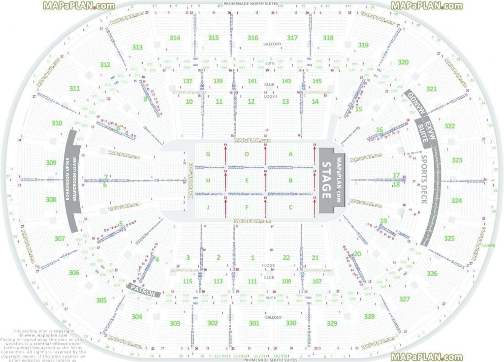 Sprint Center Seating Chart With Rows Seating Charts Madison Square The Incredibles