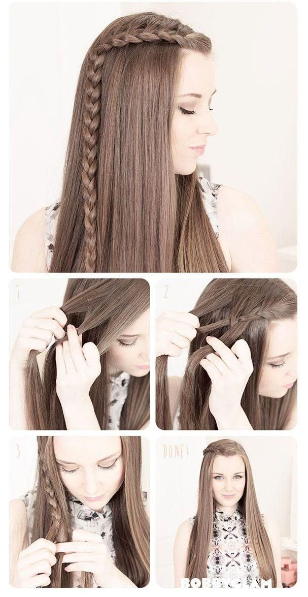 Trenza Pequena De Lado Paso A Paso Hair Styles Braided Hairstyles Long Hair Styles
