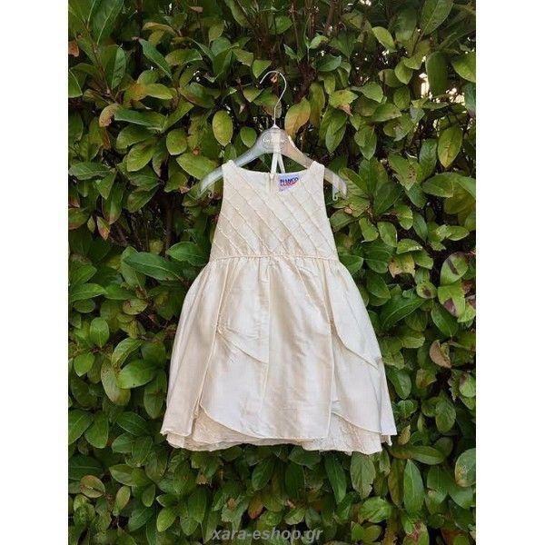 af40ba3c913 Βαπτιστικό φόρεμα μεταξωτό εκρού Bianco Colore  οικονομικό-επώνυμο-προσφορά-τιμές, Βαπτιστικά ρούχα