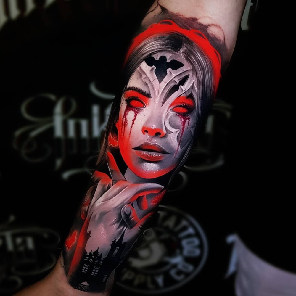 Photo Realism Tattoo Woman . Photo Realism Tattoo