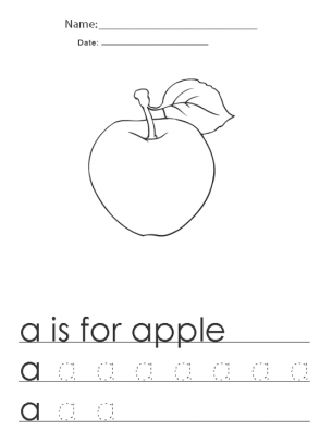 A Is For Apple Give A Like For Free Printable Worksheets