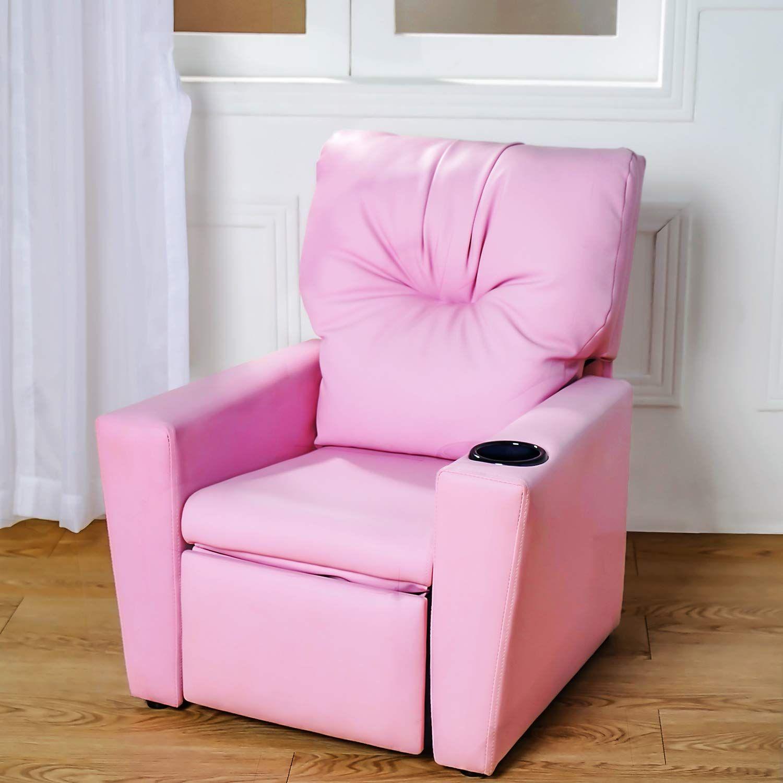 Super Contemporary Deluxe Kids Recliner Mini Sofa Pink Armchair Short Links Chair Design For Home Short Linksinfo