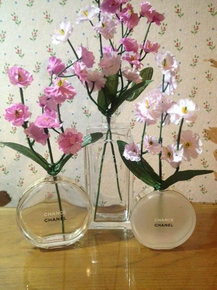 Recycled Perfume Bottles Decoration Pieces | Rund ums Haus ...