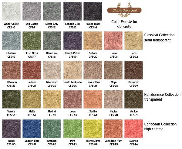 Classic Floor Seal - Concrete Stain Colors - Los Angeles, Orange ...