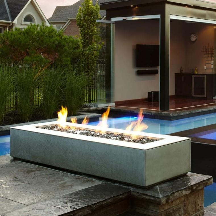 Gartenmobel Und Kreative Feuerstellen Feuerstelle Garten Beton Feuerstellen Feuerstelle