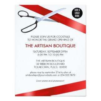 Image result for new school opening invitation card apple iit custom red ribbon cutting grand opening custom announcements created by corporateoccasions this invitation design is available on many paper types and is stopboris Gallery
