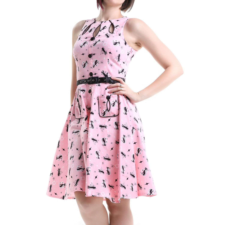 Vestido Pin Up Rosa con Gatitos | Crazyinlove España