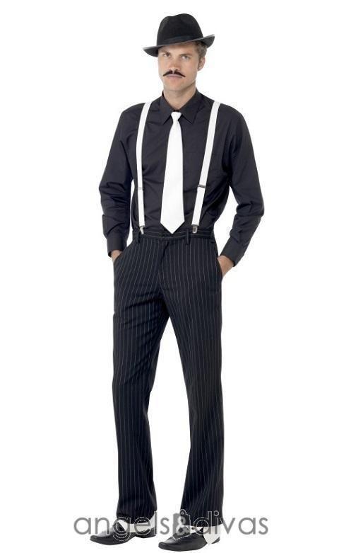 GANGSTER FANCY DRESS COSTUME ACCESSORY GATSBY 20s 1920s MAFIA