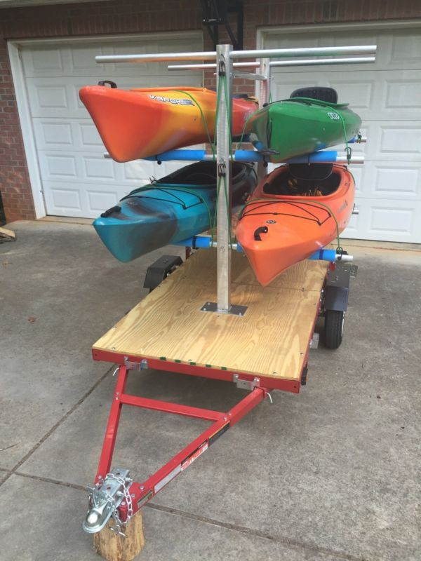 Carrico watersports kayak carrier rack canoes boats for Harbor freight fishing cart