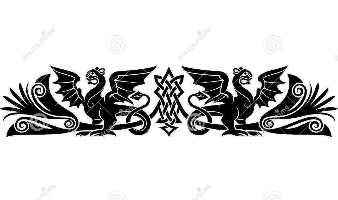 Free celtic tattoos medieval celtic pattern bizarre creatures look