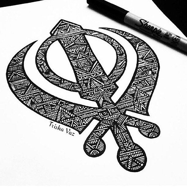 Love This Beautiful Mandala Artwork Of The Sikh Khanda By